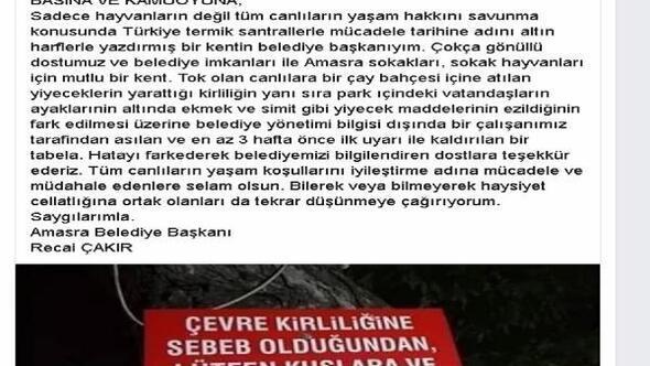 Amasra Belediyesinden tabela açıklaması