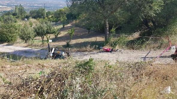 Devrilen sepetli motosikletin sürücüsü öldü