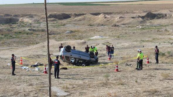 Akraba ziyareti dönüşü kaza : 1 ölü, 3 yaralı