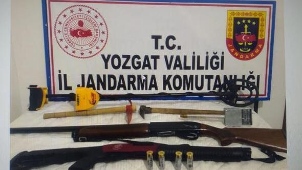 Yozgatta kaçak kazıya 2 gözaltı