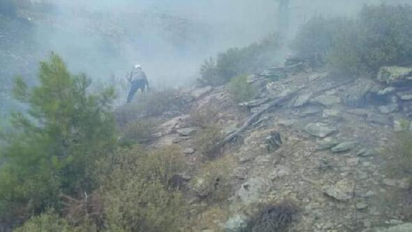 Yatağan ve Menteşede, yıldırımın isabet ettiği ormanlarda yangın