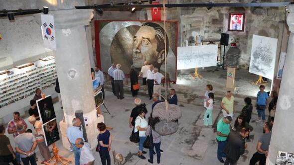 250 bin vida ile Guinnesse giren Atatürk portresi, Anıtkabir'e hediye edilecek