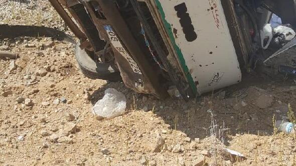 Kırşehirde kamyonet devrildi: 1 yaralı