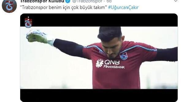 Trabzonspor'dan Uğurcan Çakır videosu