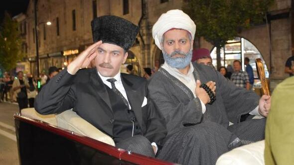 Atatürkün Sivasa gelişi temsili olarak canlandırıldı