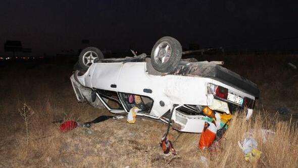 Otomobil takla attı; aynı aileden 5 kişi yaralandı