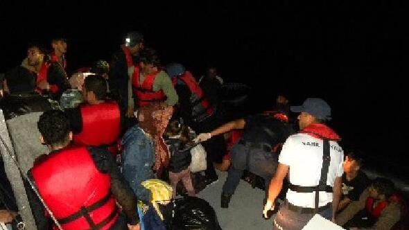 Çanakkalede 92si çocuk, 225 kaçak göçmen yakalandı