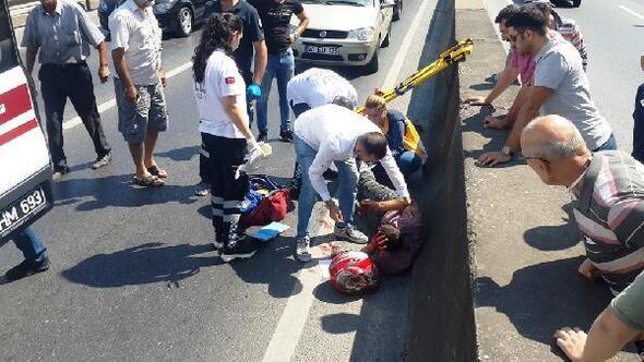 Beton mikseri motosikletle çarpıştı: 1 yaralı