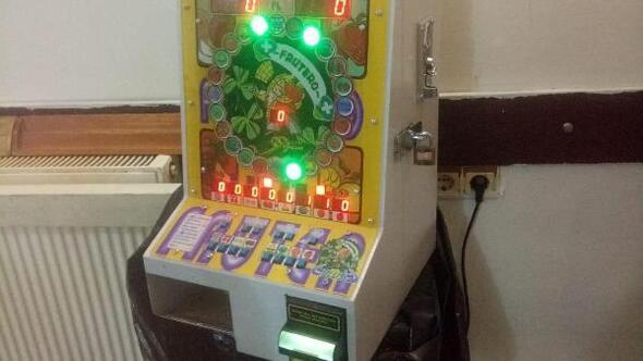 Keşanda kumar makinesi ele geçirildi