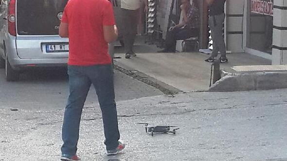 Sürücelere Drone ile ceza yağdı