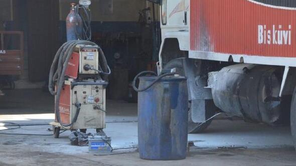 Kamyonetin yakıt deposuna kaynak yapılırken patlama: 3 yaralı