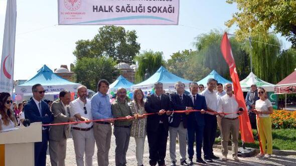 Edirnede Halk Sağlığı Sokağı açıldı