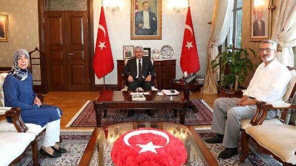 Şehit Ali Uçarın ailesinden Vali Doğan'a ziyaret