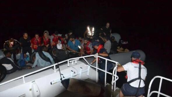 Kuşadası açıklarında 38 kaçak göçmen yakalandı