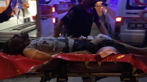 Eski eşi ve çocuklarını silahla rehin alan koca bacağından vurularak etkisiz hale getirildi