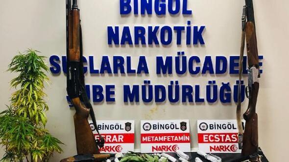 Bingöl ve Diyarbakırdaki uyuşturucu operasyonunda 20 tutuklama