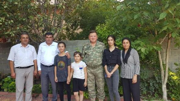 Albay Sancaktardan şehit ailelerine ziyaretler