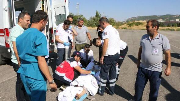 Kanser hastasına ambulans helikopter desteği