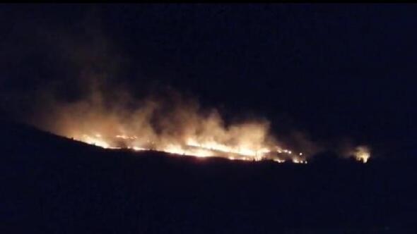 Elazığda ormanlık alandaki yangın korkuttu