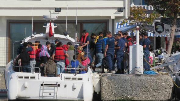 Çanakkalede 92 kaçak göçmen yakalandı