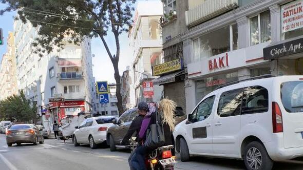 Samsunda motosiklet üzerinde tehlikeli yolculuk