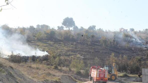 Balıkesirde makilik alanda çıkan yangında 15 dekarlık alan zarar gördü