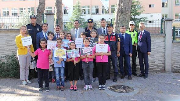 Bafra'da Yaya güvenliğinin nöbetçisiyiz etkinliği