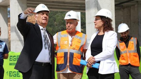 Başkan Güründen yapımı süren Bodrum Otogarında inceleme