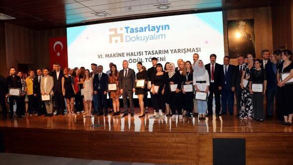 Halı Tasarım Yarışması finalinde tasarımcılar ödüllerini aldı