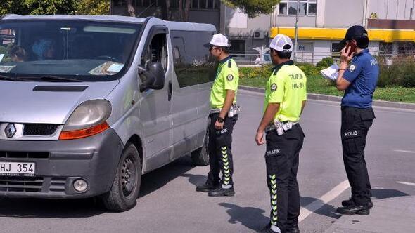 Eylülde 270 araca 39 bin 343 lira ceza kesildi