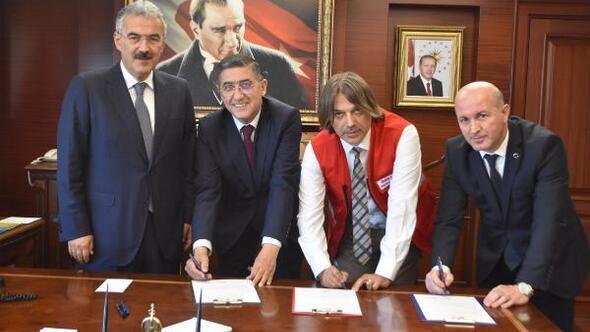 Şehit çocukları için iş birliği protokolü imzalandı