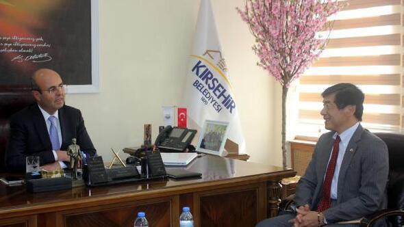 Japon Büyükelçi Kırşehirde