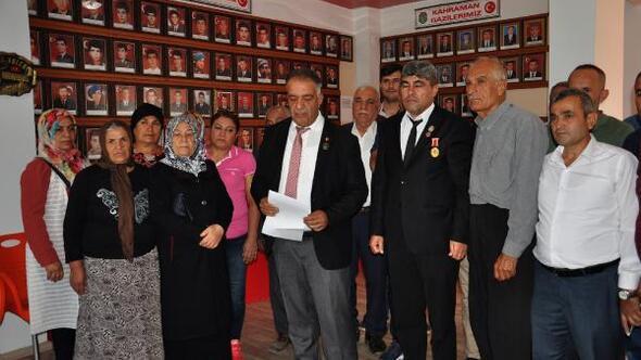 Şehit aileleri ve gazilere Barış Pınarı Harekatına destek açıklaması