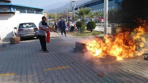 MCBÜ Hafsa Sultan Hastanesinde deprem ve yangın tatbikatı