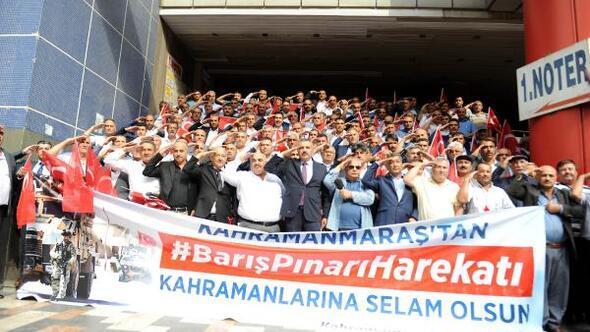Kahramanmaraşlı muhtarlardan Barış Pınarı Harekatı'na destek