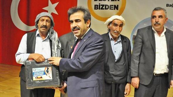 Diyarbakırda bin besiciyemakine desteği