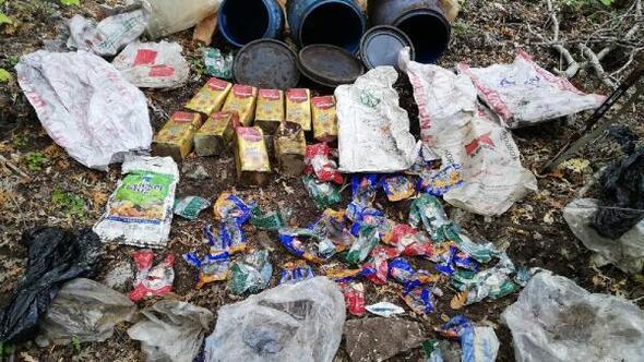 Amanoslarda PKKya ait yaşam malzemeleri ele geçirildi