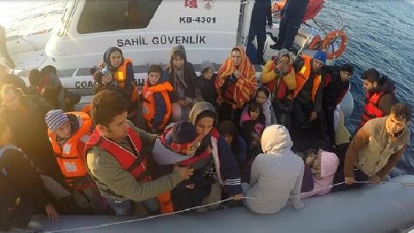 Çanakkalede 76sı çocuk, 147 kaçak göçmen yakalandı