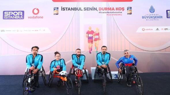 İstanbul Maratonunda Bağcılar'ın engelli sporcuları ilk 3'te yer aldı