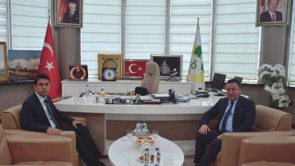 Emniyet Müdürü Yamandan Başkan Beyoğluna ziyaret