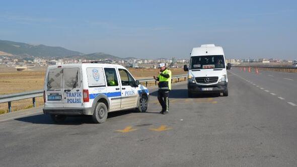 Nurdağı'nda trafik uygulaması