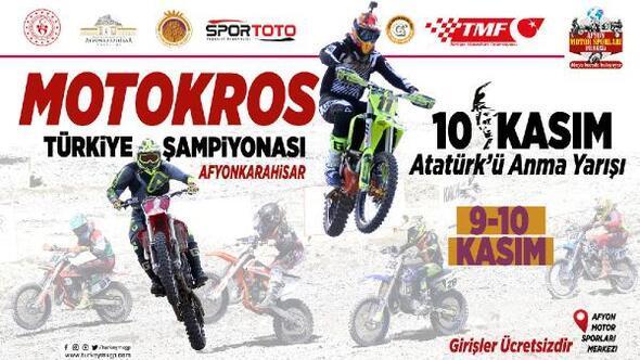 Motokrosta Türkiye şampiyonası heyecanı Afyonda