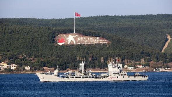 NATOya bağlı savaş gemileri, Çanakkale Boğazından geçti