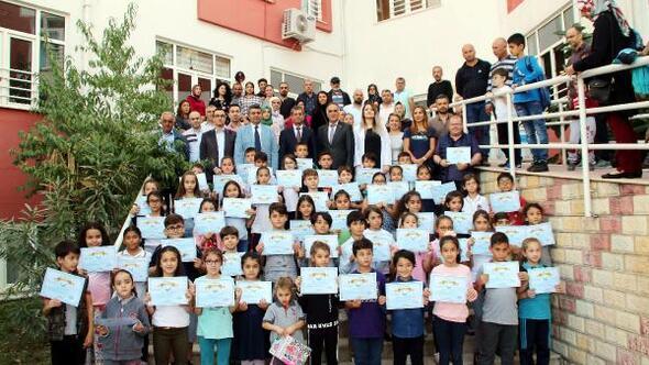 Manavgat BİLSEM öğrencilerine sertifika