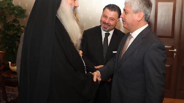 Vali Doğan Lazkiye Metropoliti Fahd'ı makamında kabul etti