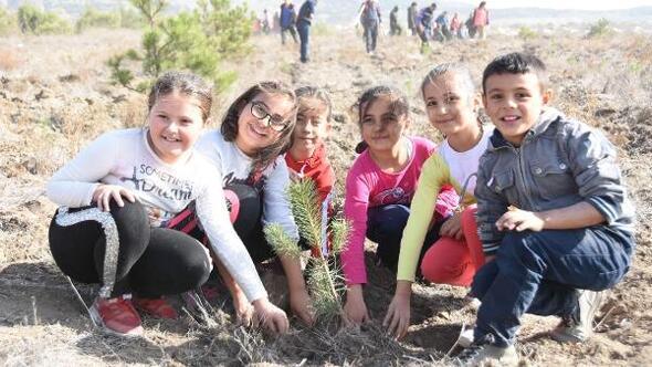 Eskişehir'de 160 noktada 290 bin fidan toprakla buluşturuldu