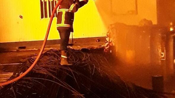 Resulaynda akaryakıt istasyonunda yangın