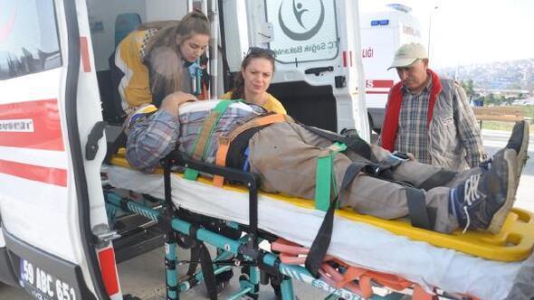 Tekirdağda çatıdan düşen işçi yaralandı