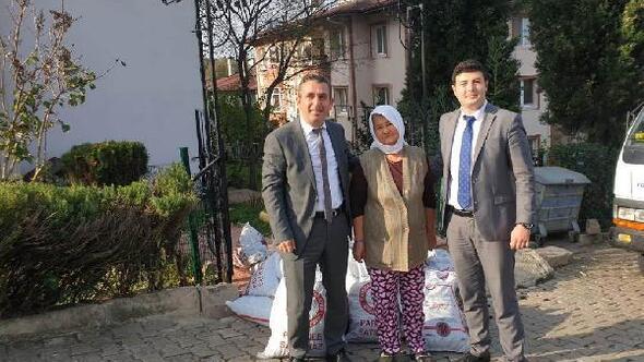 İhtiyaç sahiplerine PTT eliyle kömür yardımı başladı
