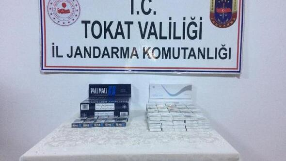 Tokatta 219 paket kaçak sigara ele geçirildi